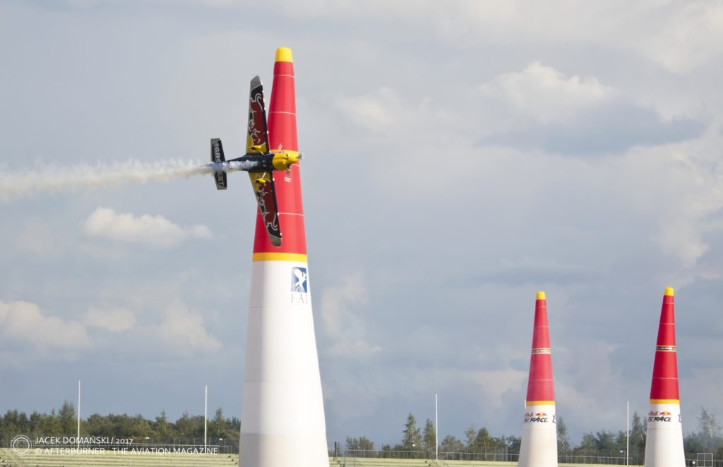 Red Bull Air Race demo at the Aviation Fair 2019 —